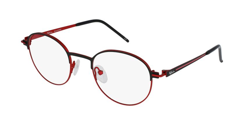 Gafas graduadas MARS negro/rojo - vue de 3/4