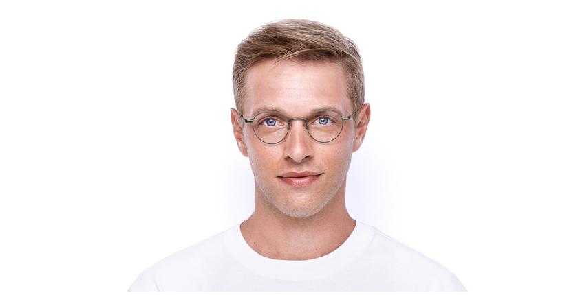 Gafas graduadas CLEO plateado - vista de frente