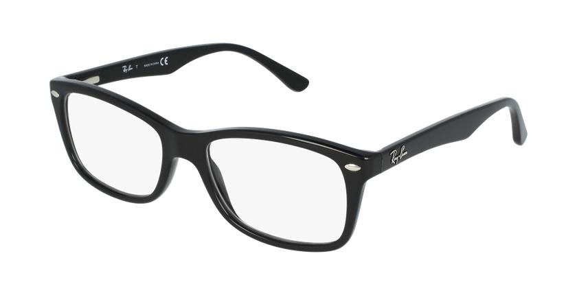 Gafas graduadas mujer RX5228 negro - vue de 3/4