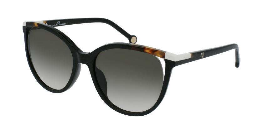 Gafas de sol mujer SHE822 negro - vue de 3/4