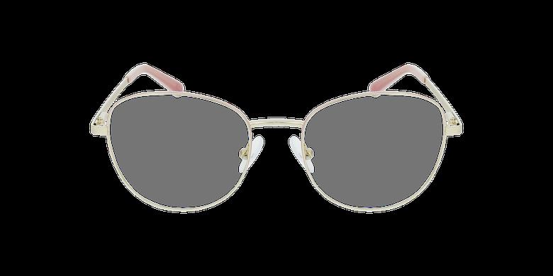 Gafas graduadas mujer LISSOU rosa/doradovista de frente