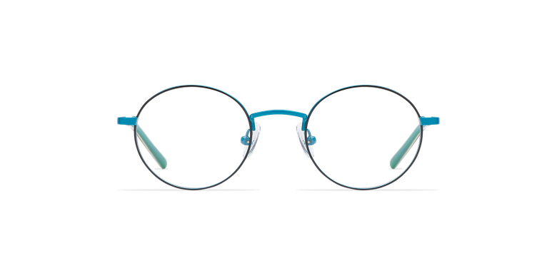 Gafas graduadas niños LOIS azul/negrovista de frente
