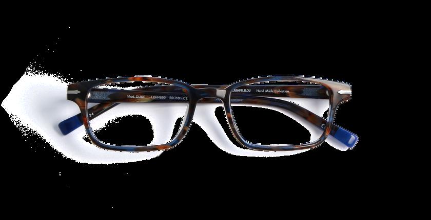 Gafas graduadas hombre DUKE azul/carey - vista de frente