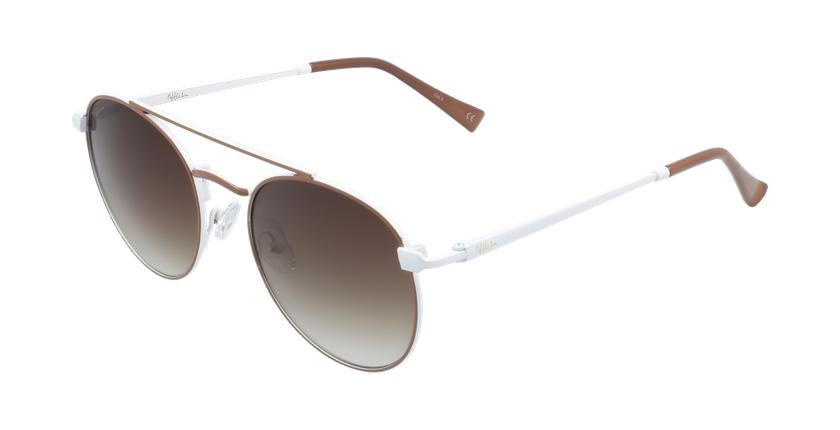 Gafas de sol niños SANTIAGO - NIÑOS marrón/blanco - vue de 3/4