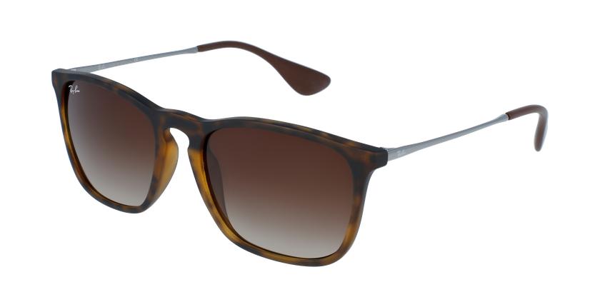 Gafas de sol hombre CHRIS negro/gris - vue de 3/4