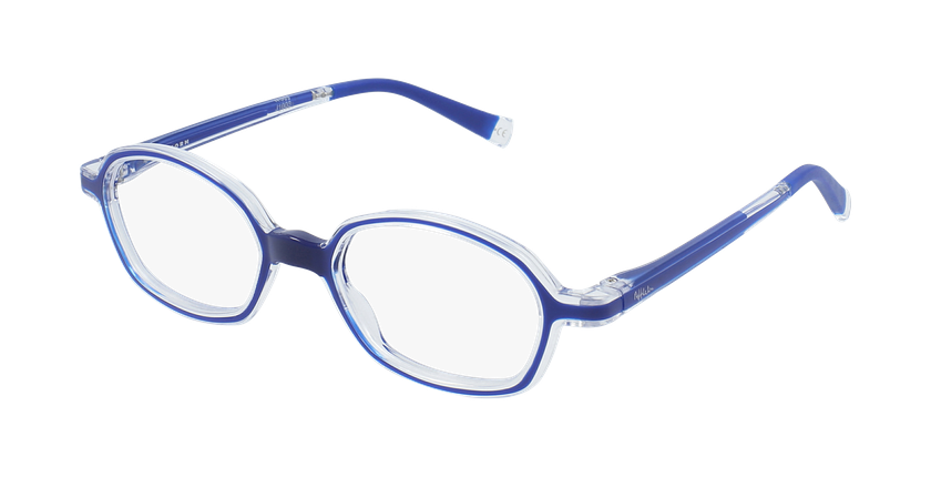Gafas graduadas niños RFOM2 azul - vue de 3/4