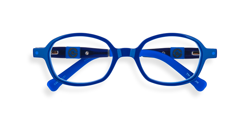 Gafas graduadas niños CARL2 azul/gris - vista de frente