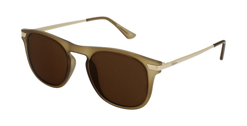 Gafas de sol hombre BENALI marrón/dorado - vue de 3/4