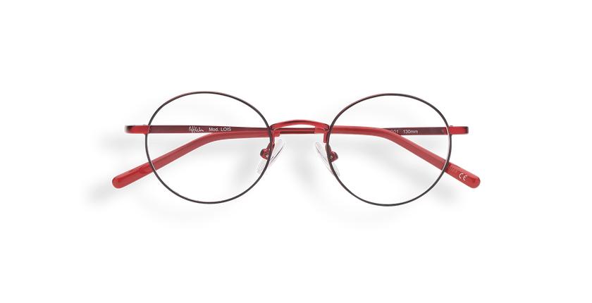Gafas graduadas niños LOIS rojo/negro - vista de frente