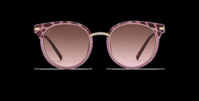 Gafas de sol mujer BARCELO morado/carey - vista de frente