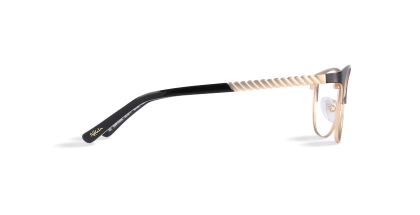Gafas graduadas mujer CASSY negro/dorado - vista de lado