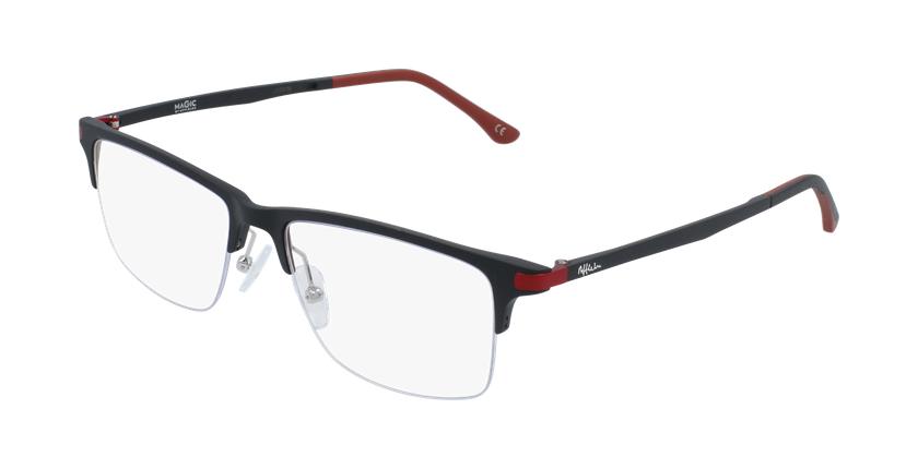 Gafas graduadas hombre MAGIC 56 BLUEBLOCK negro/rojo - vue de 3/4
