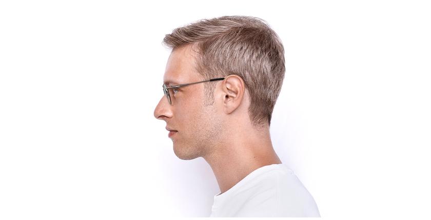 Gafas graduadas CLEO plateado - vista de lado