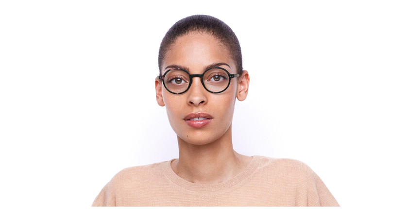 Gafas graduadas BERLIOZ carey/rosa - vista de frente