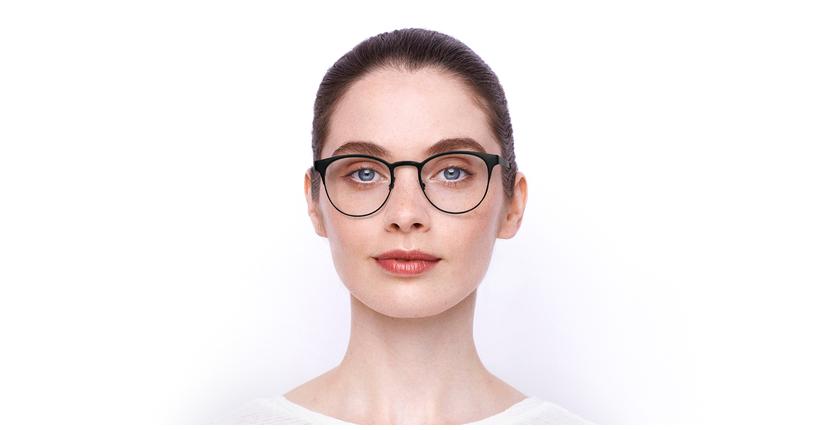 Gafas graduadas mujer MAGIC 44 BLUEBLOCK negro/dorado - vista de frente