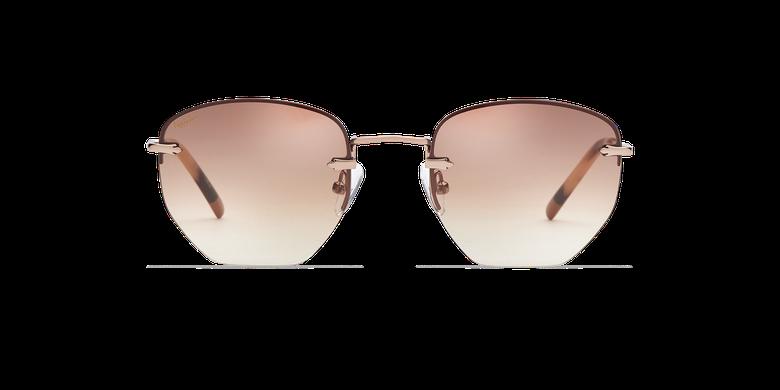 Gafas de sol mujer JENNA marrón/doradovista de frente