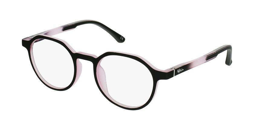 Gafas graduadas niños MAGIC 77 ECO-RESPONSABLE negro/rosa - vue de 3/4