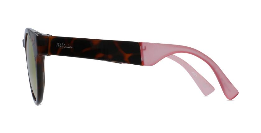 Gafas de sol mujer SLALOM carey/rosa - vista de lado