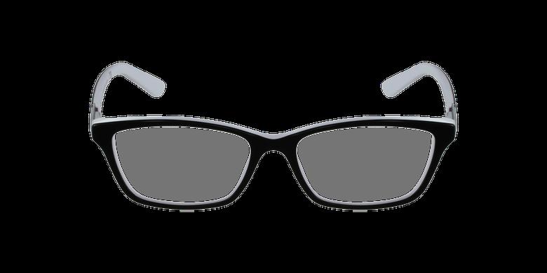 Gafas graduadas mujer 7044 negro/blancovista de frente