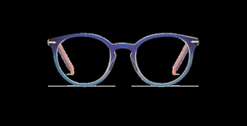 Gafas graduadas mujer OYONNAX azul/verde - vista de frente