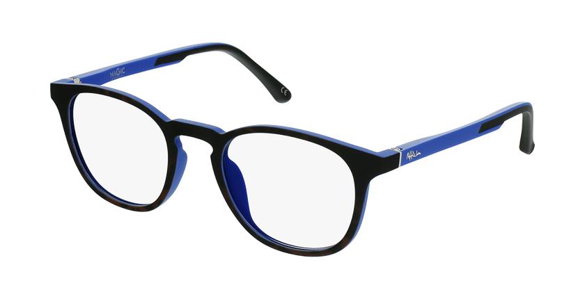 Gafas graduadas niños MAGIC 79 ECO-RESPONSABLE carey/azul - vue de 3/4