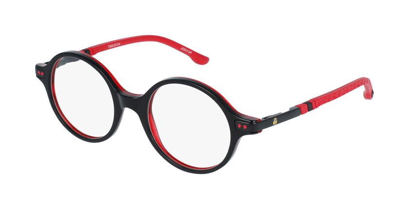 Gafas graduadas niños BELLO1 negro/rojo - vue de 3/4