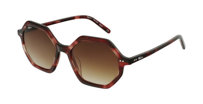 Gafas de sol mujer CLEA rojo - vue de 3/4