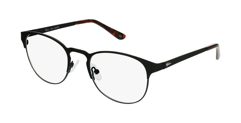 Gafas graduadas hombre XAVIER negro - vue de 3/4