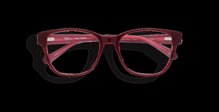 Gafas graduadas mujer KIERA rojo - vista de frente