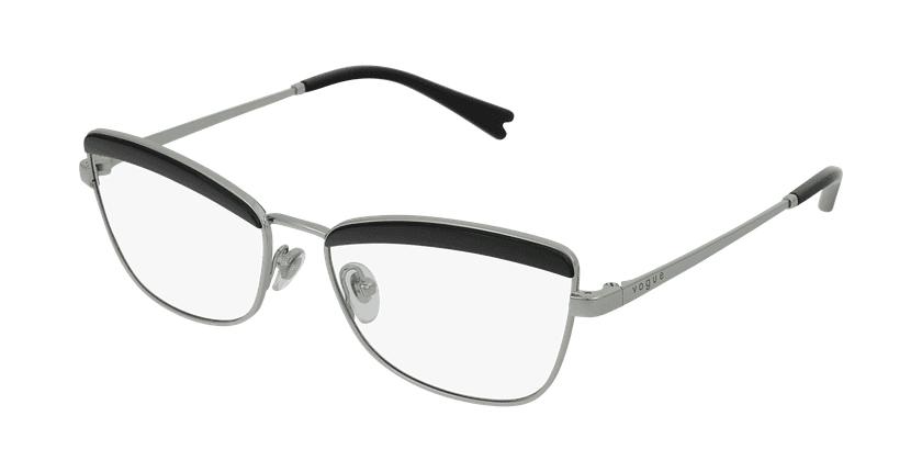 Gafas graduadas mujer VO4164 negro/plateado - vue de 3/4