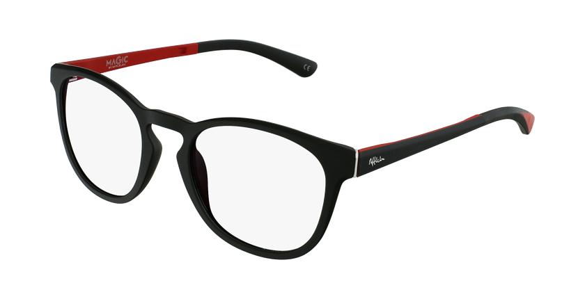 Gafas graduadas hombre MAGIC 63 negro/rojo - vue de 3/4