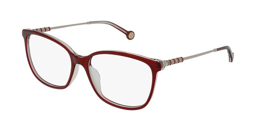 Gafas graduadas mujer VHE852 rojo/rojo - vue de 3/4
