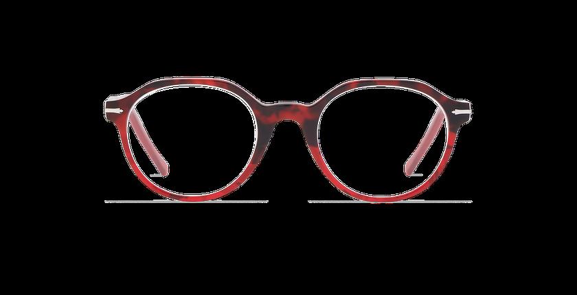 Gafas graduadas hombre MOREZ carey/rojo - vista de frente