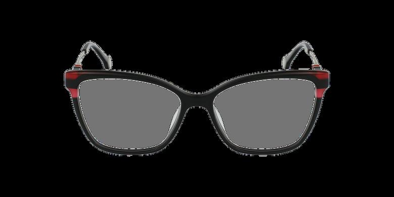 Gafas graduadas mujer VHE850 negro/rojovista de frente