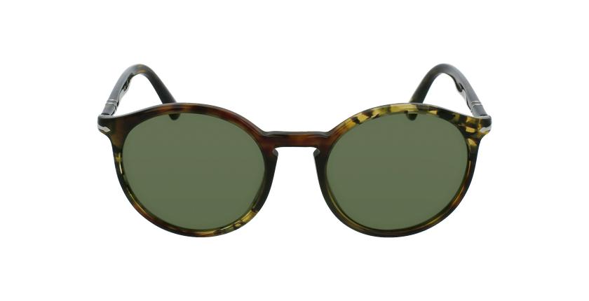Gafas de sol hombre 0PO3214S marrón/verde - vista de frente