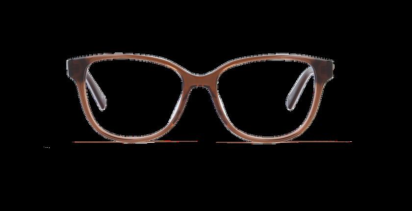 Gafas graduadas mujer LAORA marrón/marrón - vista de frente