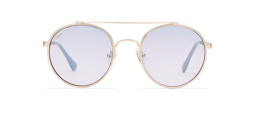 Gafas de sol MOHO dorado/morado - vista de frente