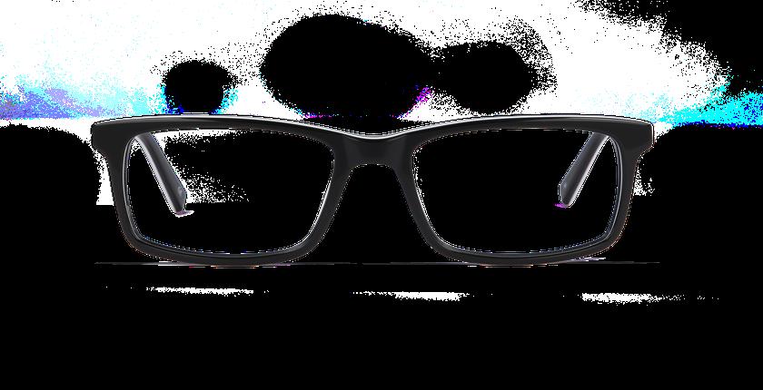Gafas graduadas hombre LEON negro - vista de frente