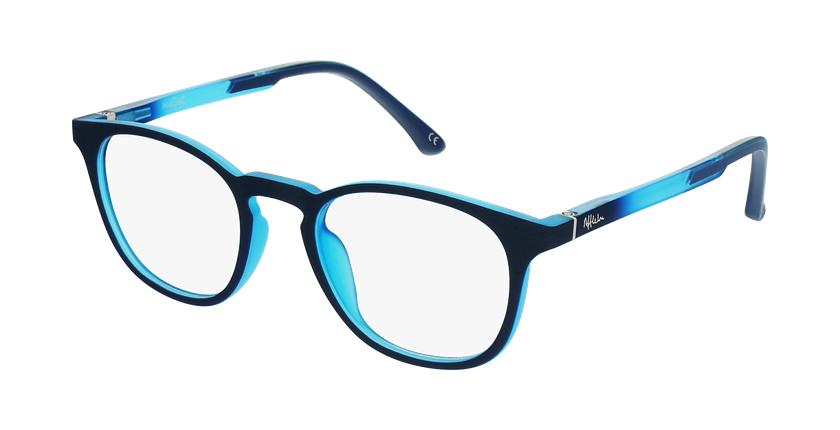 Gafas graduadas niños MAGIC 79 ECO-RESPONSABLE azul/turquesa - vue de 3/4