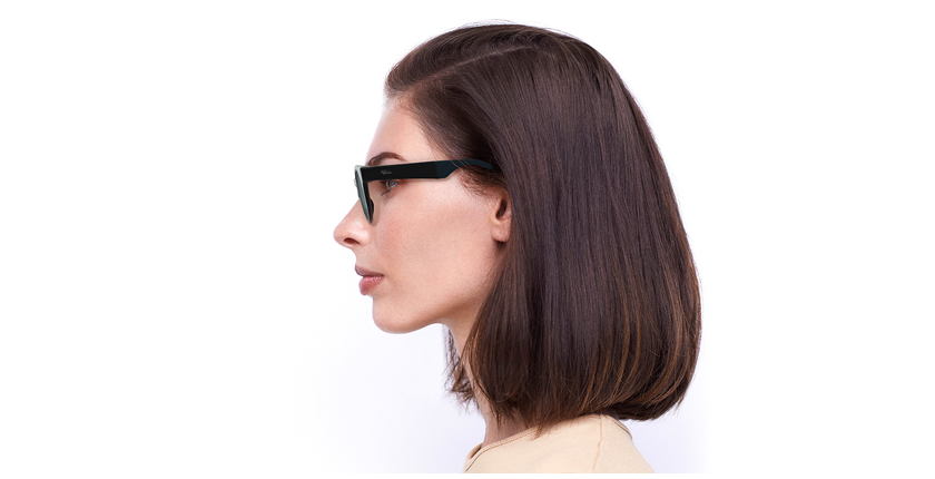 Gafas de sol mujer SLALOM negro/turquesa - vista de lado