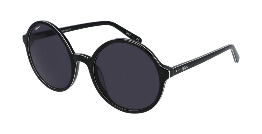 Gafas de sol mujer CASSIDY negro - vue de 3/4