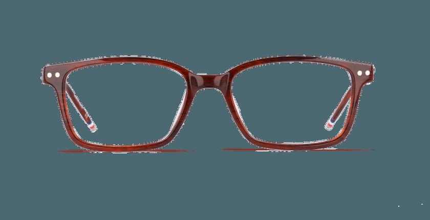 Gafas graduadas hombre DIBETOU marrón - vista de frente