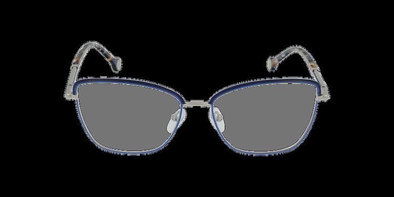 Gafas graduadas mujer VHE168 azul/plateadovista de frente