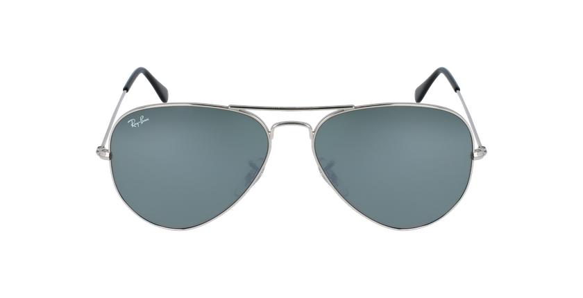 Gafas de sol AVIATOR LARGE METAL plateado/gris - vista de frente