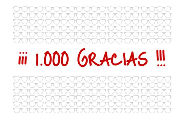 1.000 gracias a cada uno de vosotros
